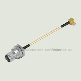 RG178 Semi Flexible RF Coaxial Cable with IPEX to Female N S/T Bulkhead Jack from EnterTec Technology Inc.