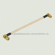 Semi Flexible Cable with Male SMA R/A Plug Both End for RG316 RF Coaxial Cable Assembly from EnterTec Technology Inc.