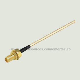 RG316 Semi Flexible RF Cable with Female SMA S/T Bulkhead Jack to End Cut from EnterTec Technology Inc.