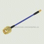 SS405 RF Cable with Male SMA S/T to Female SMP Contact S/T RF Jack for Semi Flexible Coaxial Cable from EnterTec Technology Inc.