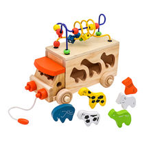 China Educational Funny Wooden Pull and Push Toy for Kids, Measures 28*14*13cm
