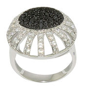 Black and White Crystal Ring from China (mainland)
