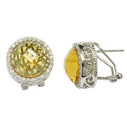 Rhodium-plated crystal stud earrings from China (mainland)