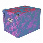 Cardboard folding storage box from China (mainland)