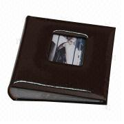 China Photo Album with Window, Book Bound, PU Cover, PP Pockets