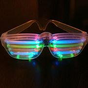 Rockstar LED Slotted Multicolor Sunglasses