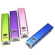 Lipstick-shaped Portable Power Bank with Aluminum Housing, Capacity of 2,200mAh