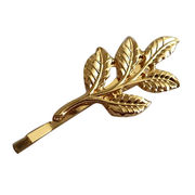 Fashionable Lovely Zinc Alloy Gold Leave Hair Clip from China (mainland)