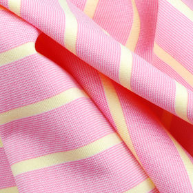 Yarn Dyed Stripe Jersey Fabric, Made of 92% Poly + 8% Spandex with Wicking and Anti-Bacterial from Lee Yaw Textile Co Ltd