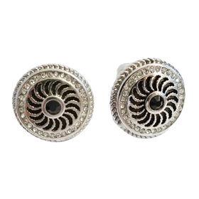 Chunky Silver Round Cufflinks from China (mainland)
