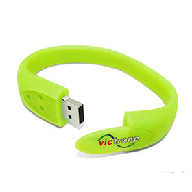 Promotion silicone bracelet usb flash drive/ free from China (mainland)