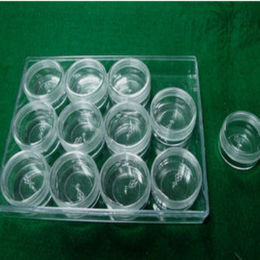 Plastic box with 12 vials a set from Taiwan