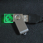 Swivel Crystal LED USB Drive with 2D & 3D Logo from Shenzhen Sinway Technology Co. Ltd