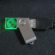 Swivel Crystal LED USB Drive from China (mainland)