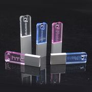 Mini Crystal USB Flash Drive with LED Logo from Shenzhen Sinway Technology Co. Ltd