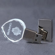 Heart Crystal USB Flash Drive with LED 3D Logo from Shenzhen Sinway Technology Co. Ltd