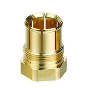 Precision machined brass fiber adapter from Hong Kong SAR