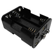 6xAA Battery Holder, Made of PP, OEM Orders are Accepted from Comfortable Electronic