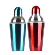 600mL blue color stainless steel cocktail shaker