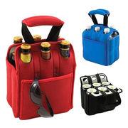 Wine Bottles Carry/Gift Bags, Made of Neoprene, Sized 22 x 17.5 x 17.5cm