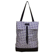 Purple printed canvas shoulder bags from China (mainland)