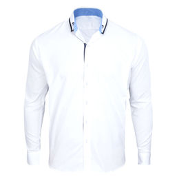 Men's dress shirts, made of 100% cotton fabric, long sleeves, OEM and ODM orders are welcome