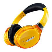 Bluetooth Headphones with Bluetooth Aux-in, 10m Operating Range, Rechargeable Lithium Battery