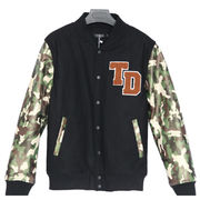 Men's Camo PU/WOOL Leather jackets Bomber Jackets Manufacturer