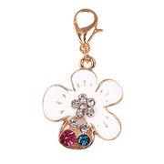 Wholesale Enameled Flower-shaped Dangles Metal Keychain, Enameled Flower-shaped Dangles Metal Keychain Wholesalers