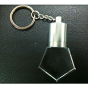Promotional USB Crystal USB Flash Memory with 2D/3D Bulb LED Logo with Keychain from Shenzhen Sinway Technology Co. Ltd