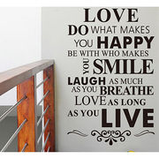 Removable Eco-friendly Vinyl Wall Quotes Sticker Manufacturer