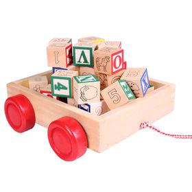Wooden building block toys