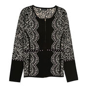 Women's wool-blend knitted jacket from Taiwan