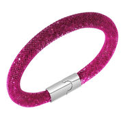Mix Color Swarovski or Austrian Crystal Mesh Bracelet with Magnetic Clasps