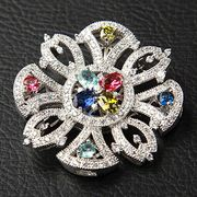 Trendy Transparent Rhinestone Brooch from China (mainland)