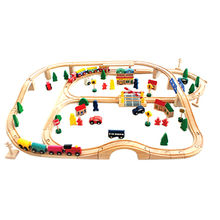 Wooden railway train toys from China (mainland)