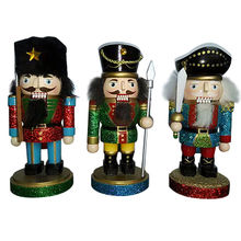 "Creative Wooden Nutcracker Set Toy, Wholesale, Unit Meas Height 6"", Model No. W02A008"