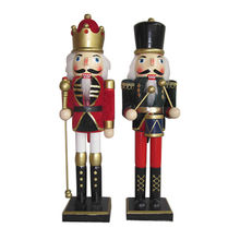 "2015 Newest & Cheap Wooden Nutcracker Toy for Children, Unit Measure Height 15"", Model No. W02A013"