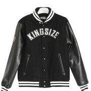 Men's Black Classic PU/WOOL Leather Varsity Jacket Manufacturer