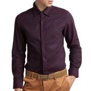 Hong Kong SAR Las camisas de vestir de los hombres con el poliéster y el algodón, diversos colores a elegir de, básicos y cómodamente