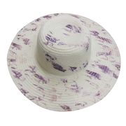 Abstract-printed Paper Straw Hats from China (mainland)