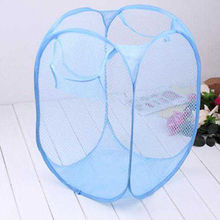 Durable polyester folding mesh laundry basket from China (mainland)