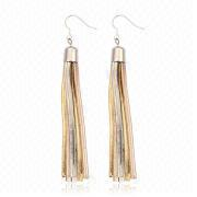 Wholesale Trendy Model Long Tassel Hoop Earring Long Period, Trendy Model Long Tassel Hoop Earring Long Period Wholesalers