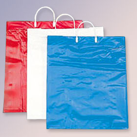 LDPE/Paper Clip Loop Handle Bag with or without Top and Bottom Chipboard from Everfaith International (Shanghai) Co. Ltd