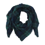 Yarn dye acrylic plaid brush scarf from China (mainland)
