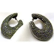 Rhodium Earrings from India