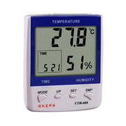 Professional Digital Thermo-Hygrometer, Temperature and Humidity Meter Clock
