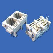 Modular Jack with Black Standard Color; Unshielded PCB smt 8p8c from Morethanall Co. Ltd
