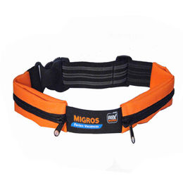 Waist Bag with Two Expandable Zipper Pockets and Elastic Webbing Strap