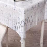 Eco Friendly PVC Wipeclean Lace Tablecloth 1.Material: Pvc,plastic,vinyl